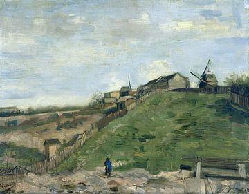 Der Hügel von Montmartre mit Steinbruch und Windmühlen, Vincent van Gogh