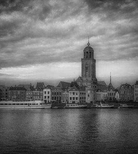 Deventer Skyline (zwart wit) van