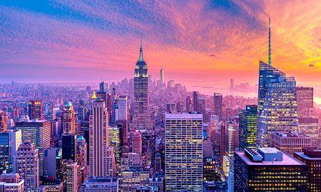 New York - Purple Skyline von Sascha Kilmer