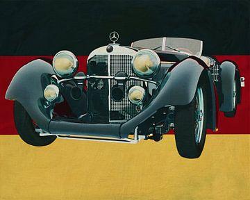 Mercedes - Benz SSK710 van 1930 voor de Duitse vlag van Jan Keteleer