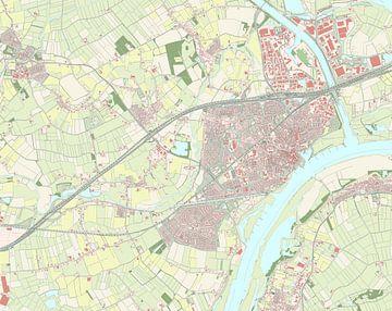 Kaart vanTiel