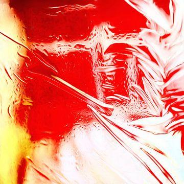 Abstrakt in rot weiß gelb von Maurice Dawson