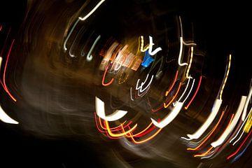 Kruispunt bij nacht 4 van Peter Schütte