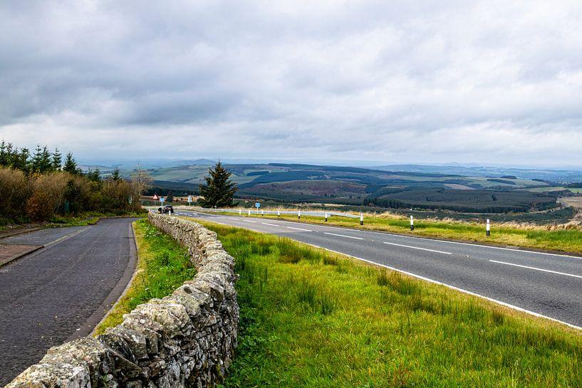 Grensovergang Engeland - Schotland van Hans Verhulst