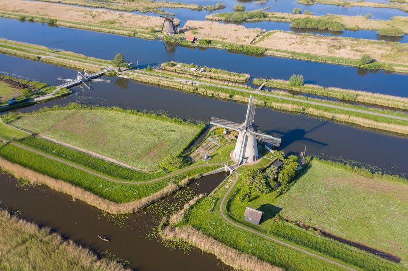 Windmolens in Kinderdijk van Jeroen Kleiberg