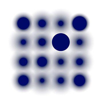 Gefocust op blauw van Jörg Hausmann