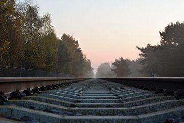 Trein rails van Wouter Bakker