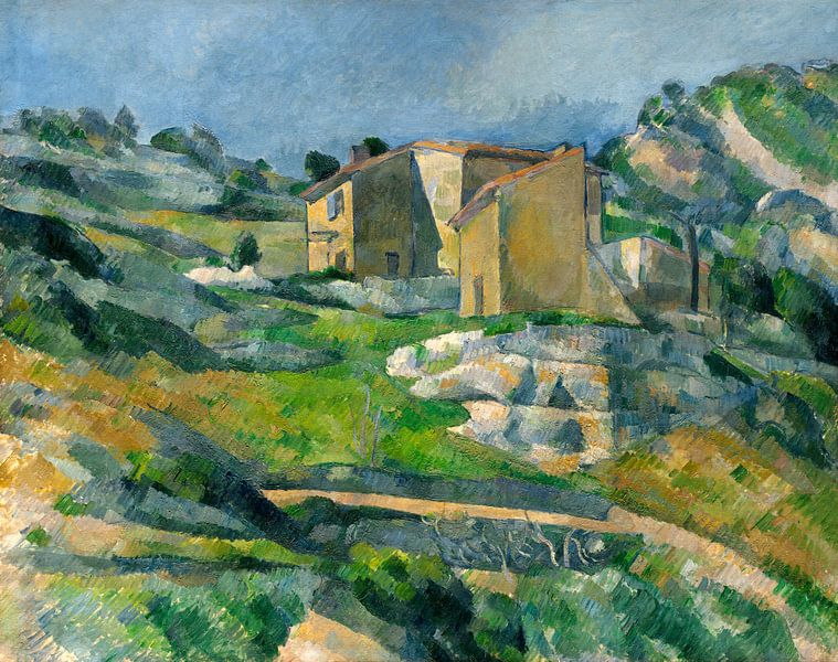 Huizen in de Provence : De Riaux Valley in de buurt van L' Estaque, Cézanne van Liszt Collection
