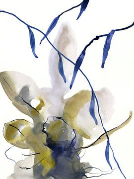 Denim floral van Brigitte Bazuin