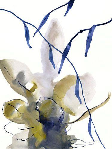 Denim floral