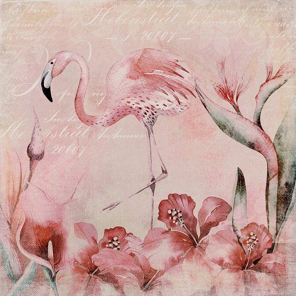 Flamingo Pink Paradies van Andrea Haase