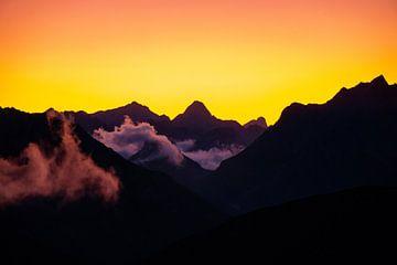 Zonsondergang boven de Dolomieten van Leo Schindzielorz
