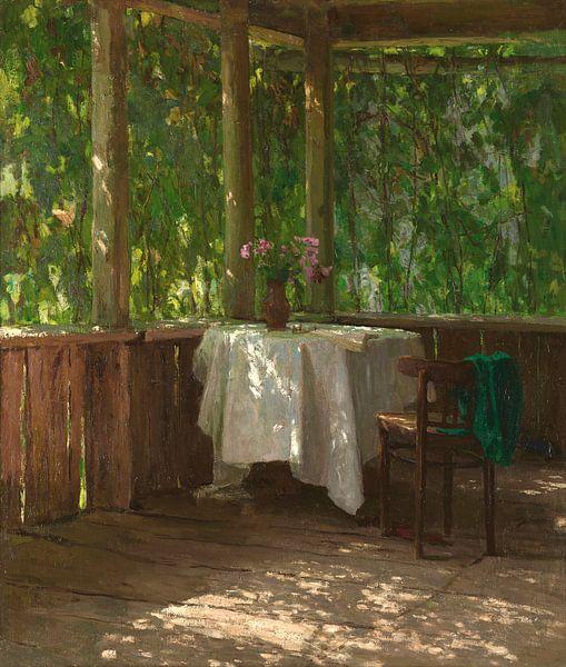 Auf der Veranda, Alexey Gritsay von Meesterlijcke Meesters