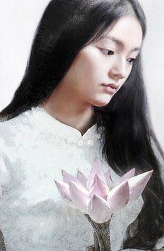 Lotus-Mädchen von Jacky Gerritsen