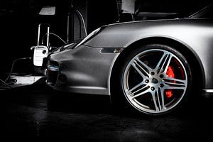 Porsche 911 turbo type 997.1 in speciaal zwart-wit