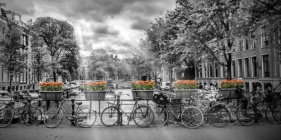 AMSTERDAM Herengracht | Panorama  van Melanie Viola