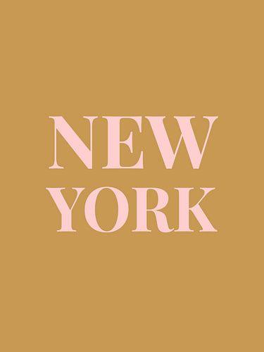 NEW YORK (in goud/roze)