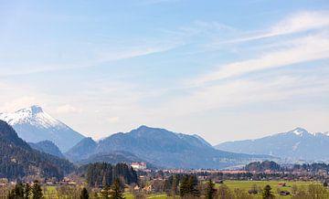 Uitzicht op Füssen van W.Schriebl PixelArts