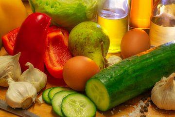 Salat-Zutaten van Dagmar Marina