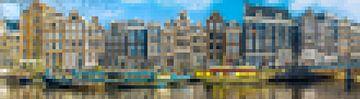 Aan de Amsterdamse grachten II - abstract van Rietje Bulthuis