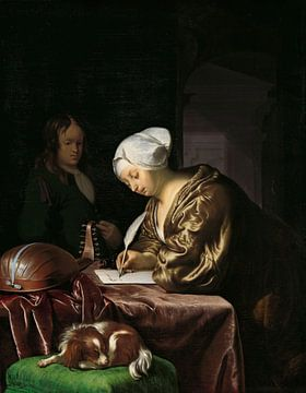Frau schreibt einen Brief, Frans van Mieris der Jüngere