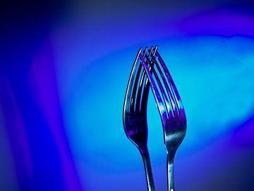 Twee vorken zo blauw van Jan Enthoven Fotografie