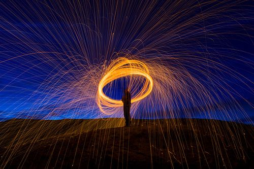 Brandende vuur cirkel, circle of fire