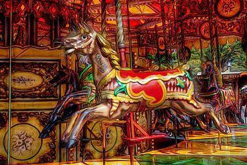 Paarden carousel van Robert Koelewijn