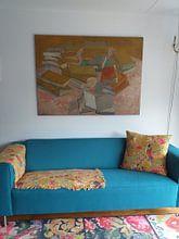Klantfoto: Stapels Franse romans, Vincent van Gogh van Meesterlijcke Meesters, op canvas