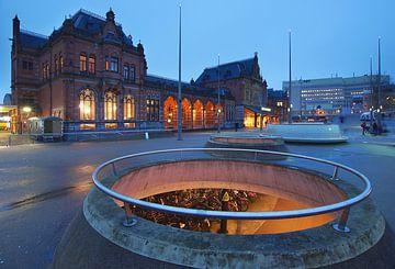 Station in Groningen van Annie Jakobs