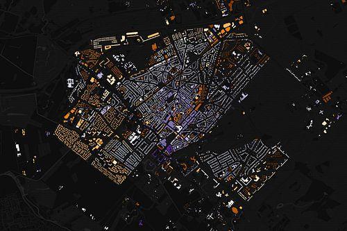 Kaart van Zeist abstract van