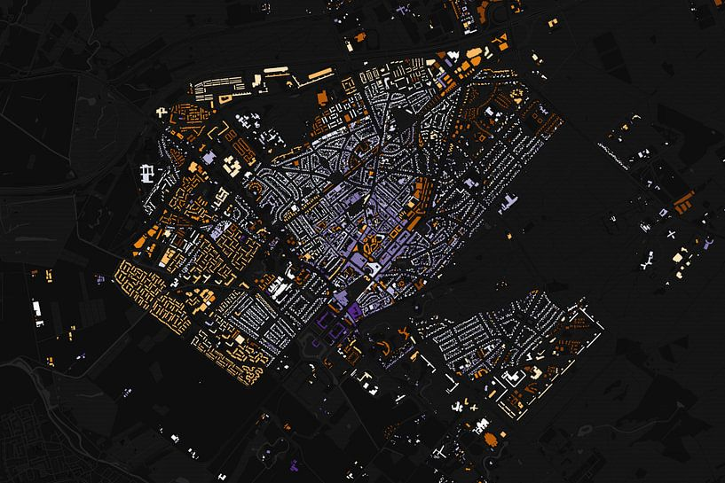 Kaart van Zeist abstract van Stef Verdonk