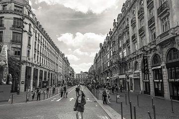 Lille Straatbeeld Zwart Wit van Freddie de Roeck