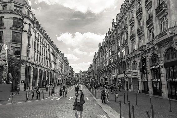 Lille Straatbeeld Zwart Wit