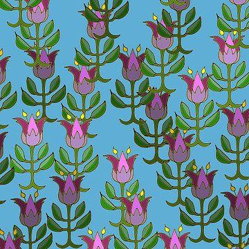 Les Tulipes printanières sur Marijke Mulder