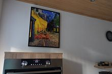 Klantfoto: Caféterras bij nacht van Vincent van Gogh van Rebel Ontwerp