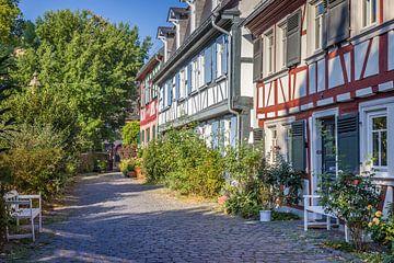 Vakwerkhuizen in de oude binnenstad van Frankfurt-Höchst van Christian Müringer