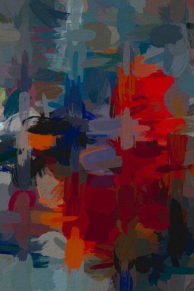 Abstracte warboel van Leo Luijten