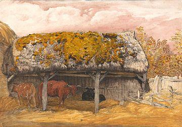 Samuel Palmer - Eine Kuhhütte mit einem Mossy-Raubüberfall