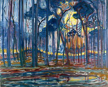 Piet Mondriaan, Bosch; Bos bij Oele, 1908 van Atelier Liesjes