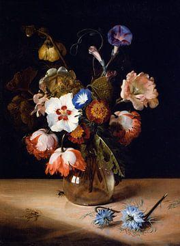 Blumen in einer Glasvase, Dirck de Bray