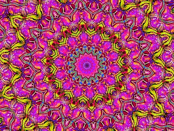 Pretty Violet (Mandala in Violett) von Caroline Lichthart