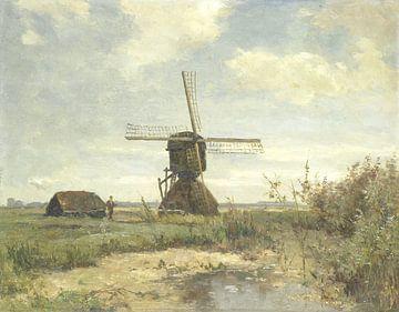 'Zonnige dag': een molen aan een wetering, Paul Joseph Constantin Gabriël