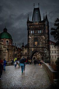 Oude stadsbrugtoren in Praag