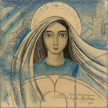 Entwurf mit dem Kopf einer Frau, Jan Toorop