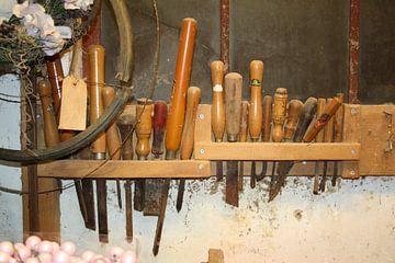 Oud gereedschap in de werkplaats