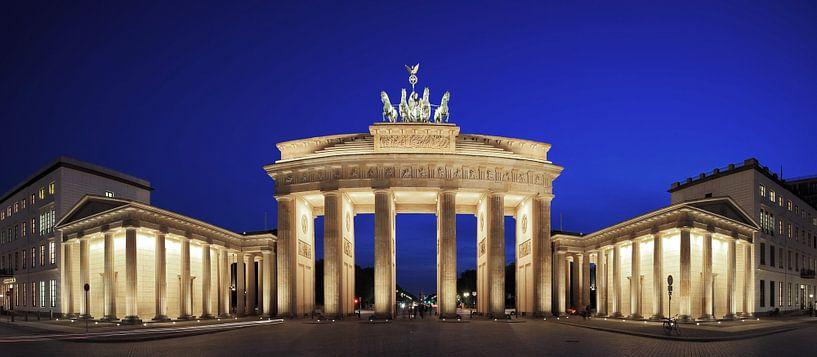 Brandenburger Tor (Berlijn) in de blauwe stude van Frank Herrmann