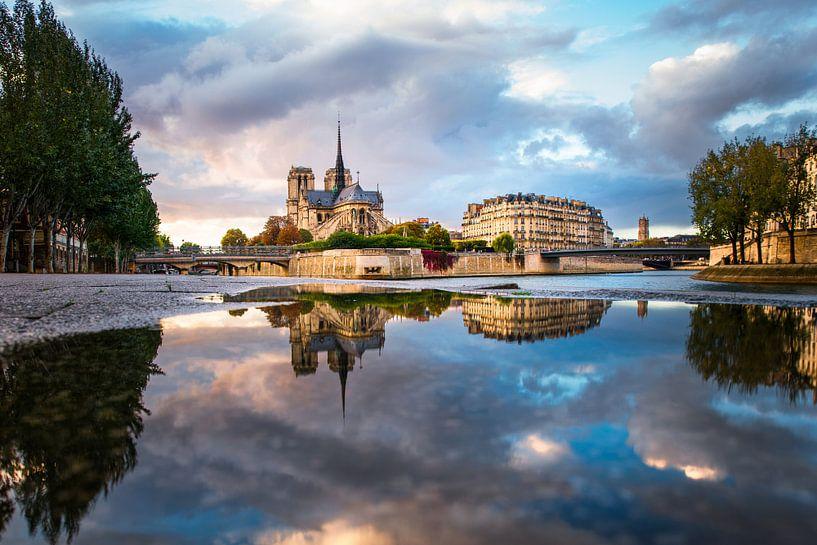 Reflections of the Notre Dame de Paris 2 van Maarten Mensink