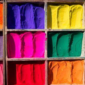 doos met mooie pigment kleuren van Paul Piebinga