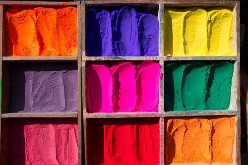 doos met mooie pigment kleuren van